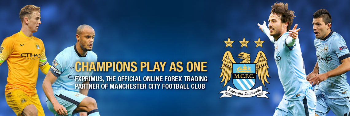 FXPRIMUS signs sponsorship deal with Manchester City Football Club.